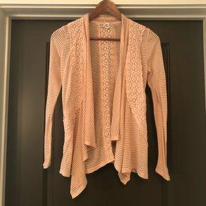 Pink Republic Womens Cardigan Sweater Pink Size XS